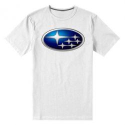 Мужская стрейчевая футболка Subaru 3D Logo - FatLine