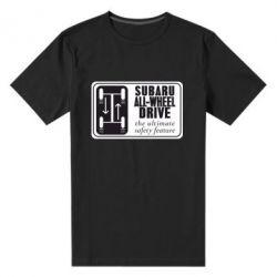 Мужская стрейчевая футболка Subaru All-Wheel - FatLine