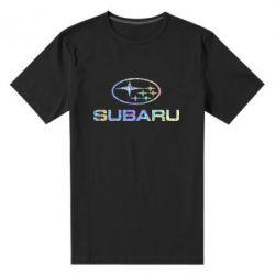 Мужская стрейчевая футболка Subaru  Голограмма