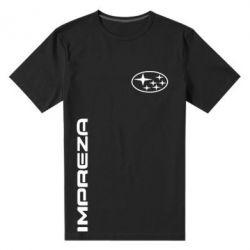 Мужская стрейчевая футболка Subaru Impreza - FatLine