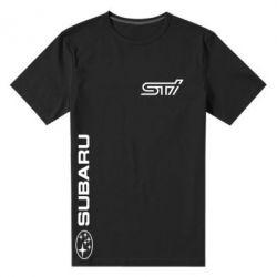 Мужская стрейчевая футболка Subaru STI Logo - FatLine