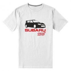 Мужская стрейчевая футболка Subaru STI - FatLine