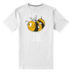Мужская стрейчевая футболка Сумасшедшая пчелка - FatLine
