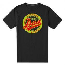 Мужская стрейчевая футболка Super Dad Pure 100% - FatLine