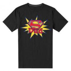 Мужская стрейчевая футболка Super Dad - FatLine