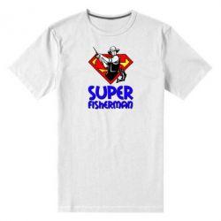 Мужская стрейчевая футболка Super FisherMan - FatLine