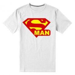 Мужская стрейчевая футболка Super Man - FatLine