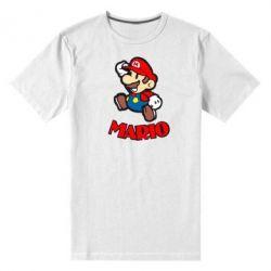 Мужская стрейчевая футболка Супер Марио - FatLine