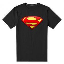 Мужская стрейчевая футболка Superman Logo - FatLine