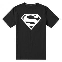 Мужская стрейчевая футболка Superman одноцветный - FatLine