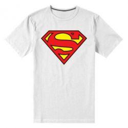 Мужская стрейчевая футболка Superman Symbol