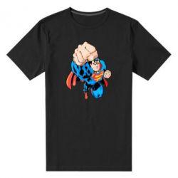 Мужская стрейчевая футболка Супермен Комикс - FatLine