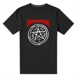 Мужская стрейчевая футболка Supernatural круг - FatLine
