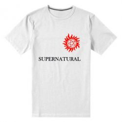 Мужская стрейчевая футболка Сверхъестественное звезда - FatLine