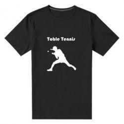 Мужская стрейчевая футболка Table Tennis Logo - FatLine