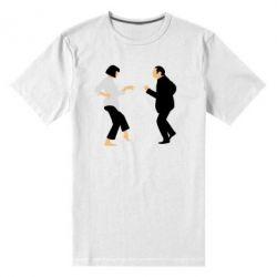 Мужская стрейчевая футболка Танец Криминальное Чтиво