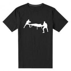 Мужская стрейчевая футболка Теннисный стол - FatLine