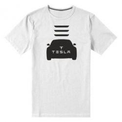Мужская стрейчевая футболка Tesla Car - FatLine