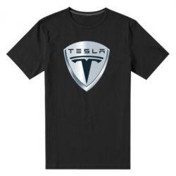 Мужская стрейчевая футболка Tesla Corp - FatLine