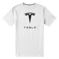 Мужская стрейчевая футболка Tesla Logo