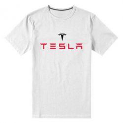 Мужская стрейчевая футболка Tesla - FatLine