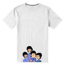 Мужская стрейчевая футболка The Beatles