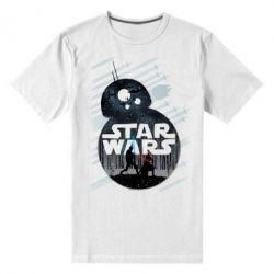 Мужская стрейчевая футболка The Force - FatLine