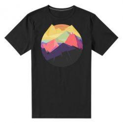 Мужская стрейчевая футболка The mountains Art