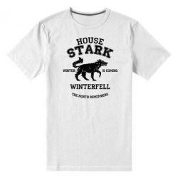Мужская стрейчевая футболка The North Remembers - House Stark - FatLine