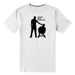 Мужская стрейчевая футболка Three minutes. - FatLine