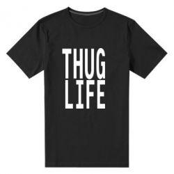 Мужская стрейчевая футболка thug life - FatLine