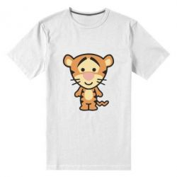 Мужская стрейчевая футболка тигрюля - FatLine