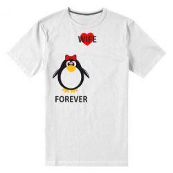 Мужская стрейчевая футболка Together forever - FatLine