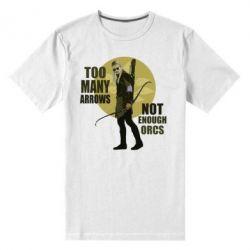 Мужская стрейчевая футболка Too many arrows, not enought orcs - FatLine