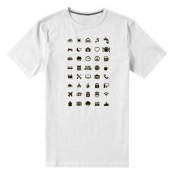 Мужская стрейчевая футболка Travel-Iconspeak - FatLine