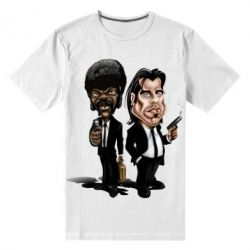 Мужская стрейчевая футболка Travolta & L Jackson