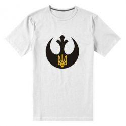 Мужская стрейчевая футболка Трезубец - FatLine