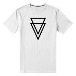 Мужская стрейчевая футболка Triangles - FatLine