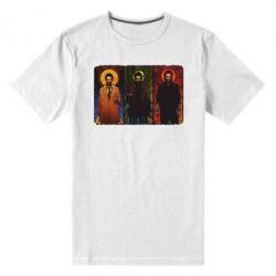 Мужская стрейчевая футболка Трио Сверхъестественное - FatLine