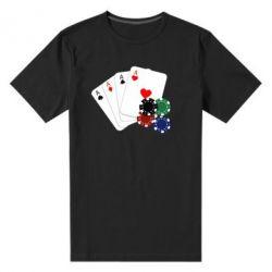 Мужская стрейчевая футболка Тузы - FatLine