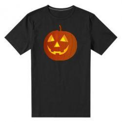 Чоловіча стрейчева футболка Тыква Halloween