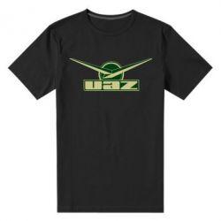 Мужская стрейчевая футболка UAZ Лого - FatLine