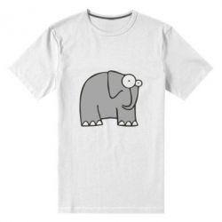 Мужская стрейчевая футболка удивленный слон - FatLine