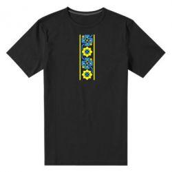 Мужская стрейчевая футболка Украiiнський орнамент - FatLine