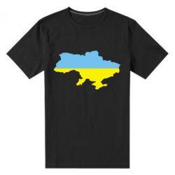 Мужская стрейчевая футболка Украина - FatLine