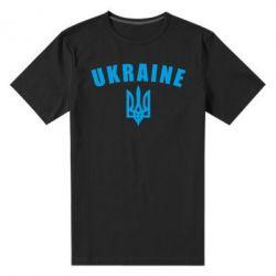 Мужская стрейчевая футболка Ukraine + герб - FatLine