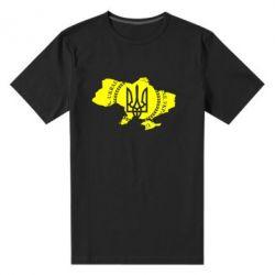 Мужская стрейчевая футболка Ukrainian Map - FatLine