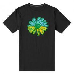 Мужская стрейчевая футболка Українська квітка - FatLine