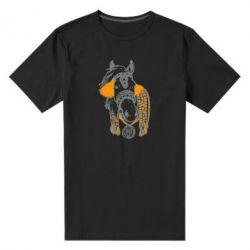 Мужская стрейчевая футболка Українській кінь - FatLine