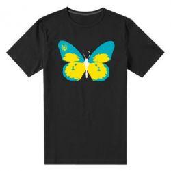 Мужская стрейчевая футболка Український метелик - FatLine